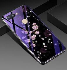 Чехол Glass-case для Xiaomi Mi 8 Lite бампер накладка Sakura