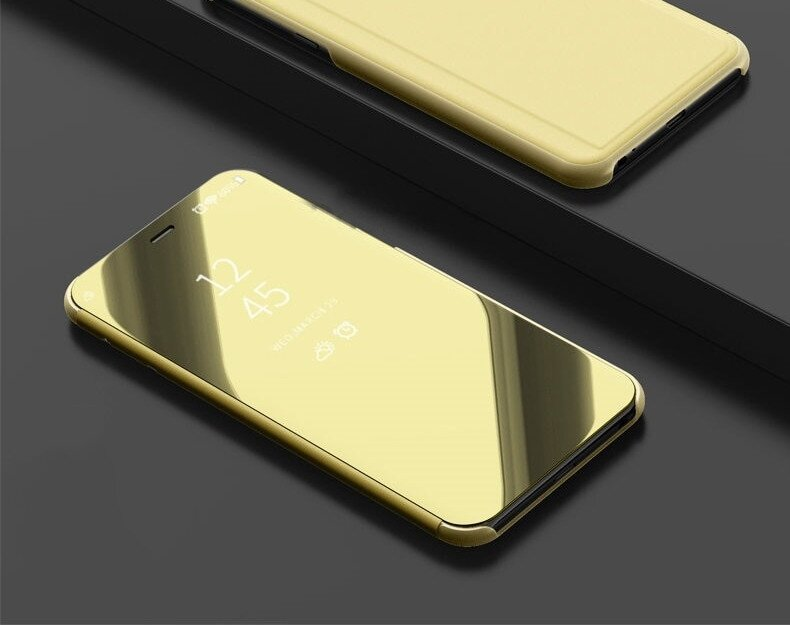 Чехол Mirror для Samsung Galaxy Grand Prime G530 G531 книжка Gold